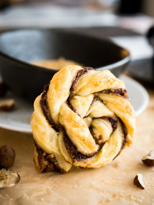 Twisted Nutella Danish