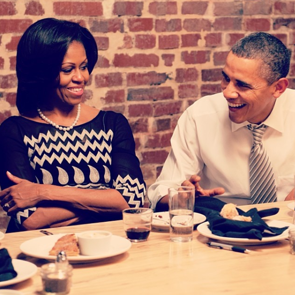 Or enjoying a glass of wine in the backyard with Michelle and Barack Obama while discussing politics, relationship tips, and the benefits of shea butter.
