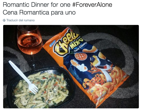Por supuesto que no has dejado de tener cenas románticas.