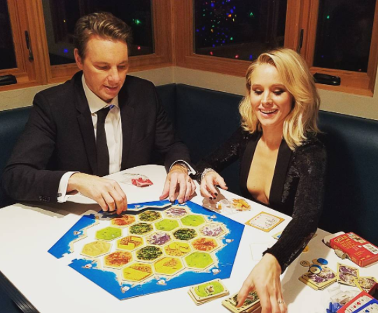 Or sitting in this booth, squeezed in-between Kristen Bell and Dax Shepherd on game night?