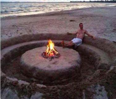 Esta manera épica de relajarse en una fiesta en la playa.