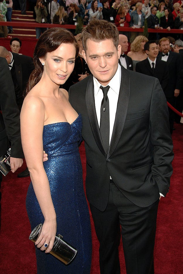 Emily Blunt and Michael Bublé were a couple.