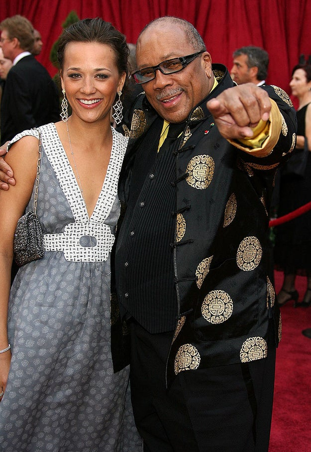 Rashida Jones accompanied her dad, Quincy Jones.