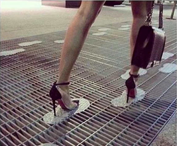 These city grates that save high-heel wearers a whole lot of trouble.