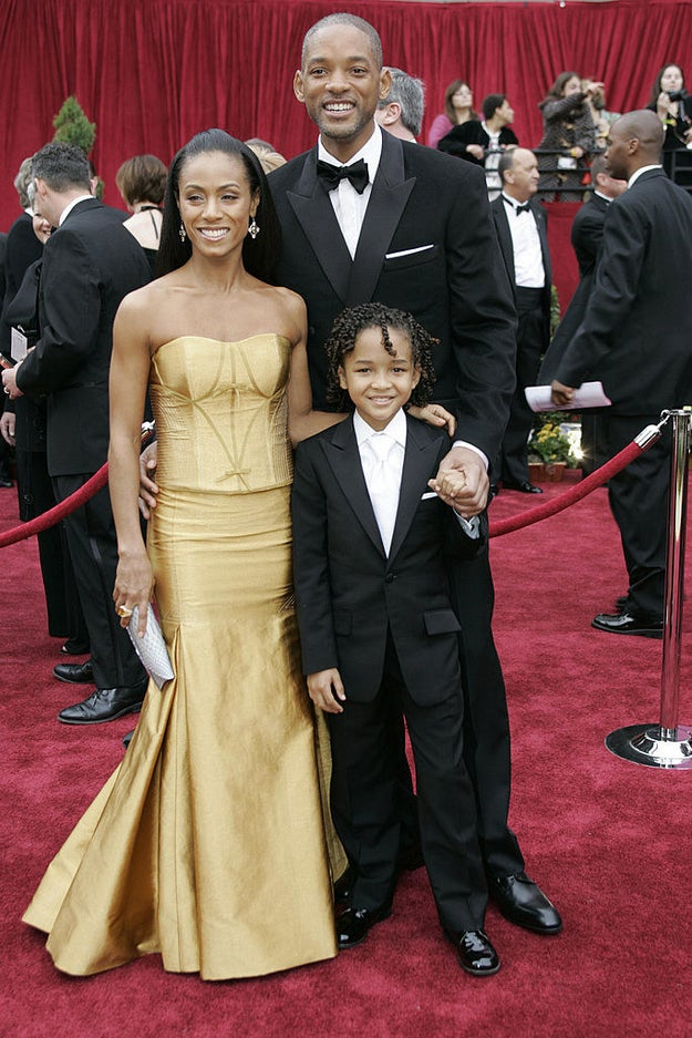 Will Smith was nominated for Best Actor for his performance in The Pursuit of Happyness, and attended with his co-star and son, Jaden, and wife Jada.