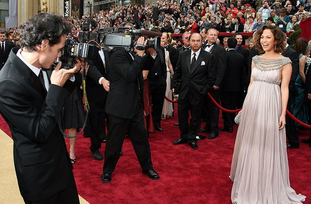 Marc Anthony and Jennifer Lopez were also still very much together. He even took ~pap~ photos of her on the carpet.