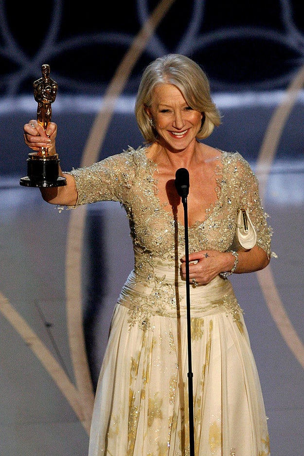 Helen Mirren took home the Best Actress Oscar for her performance in The Queen.