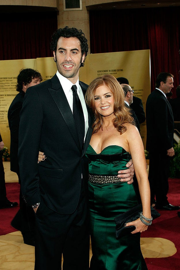 Sacha Baron Cohen and Isla Fisher were adorable as always.