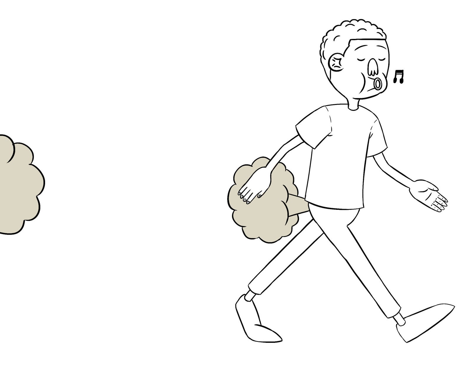 Guia ilustrativo de como soltar um pum disfarçadamente.