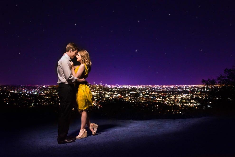 Ellen Wleklinski e Corey Collins sono una coppia californiana che ha recentemente celebrato il loro impegno con un servizio fotografico La La Land di ispirazione, ed è abbastanza perfetto.