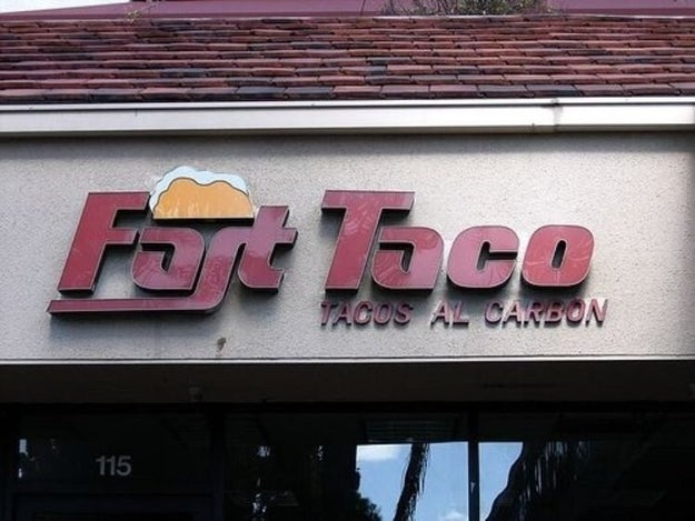 This unappealing food place.