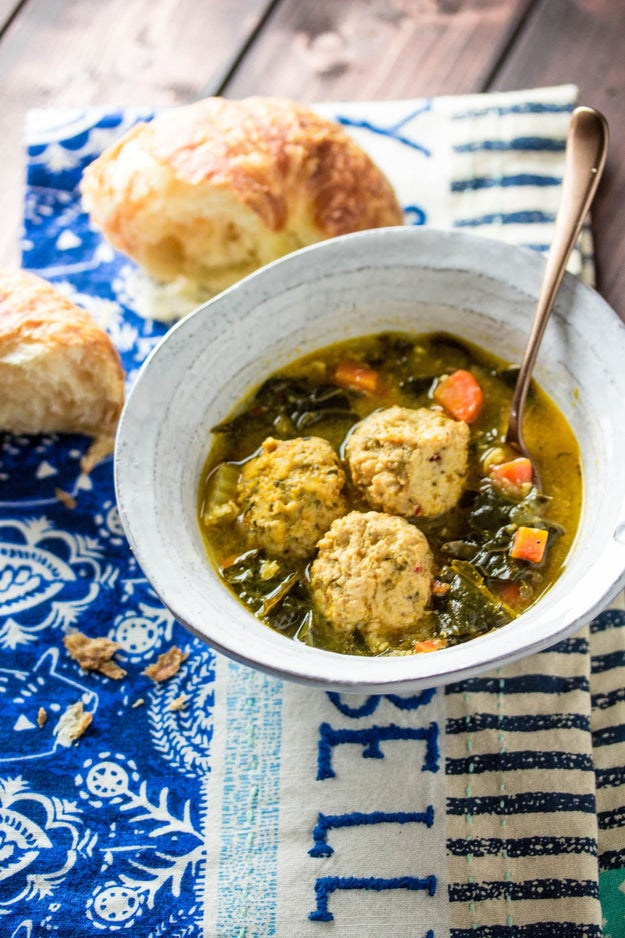 Instant Pot Chicken Meatball and Kale Soup