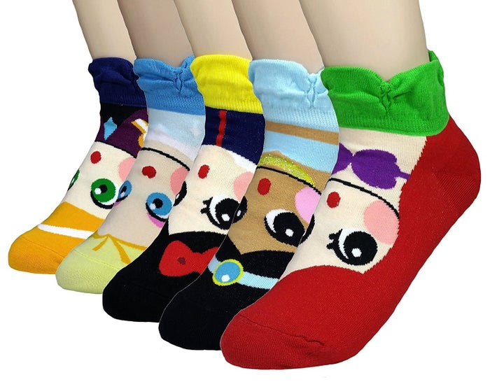 """Promising review: """"These socks are like sunshine and happiness emitting from my very soul! I'm pretty sure they are made from tiny, fluffy little magical bunnies because the softness is unexplainable! Not even a basket full of fluffy kittens can compare to the unexplainable cuteness of these socks!"""" —Brandy PetersonPrice: $14.88"""