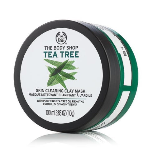 Body Shop's Tea Tree Clearing Clay Mask will also work wonders on your skin, without drying it out.