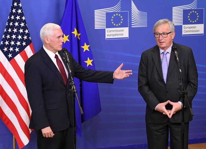 US Vice President Mike Pence met with European Commission President Jean-Claude Juncker in Brussels earlier this week.