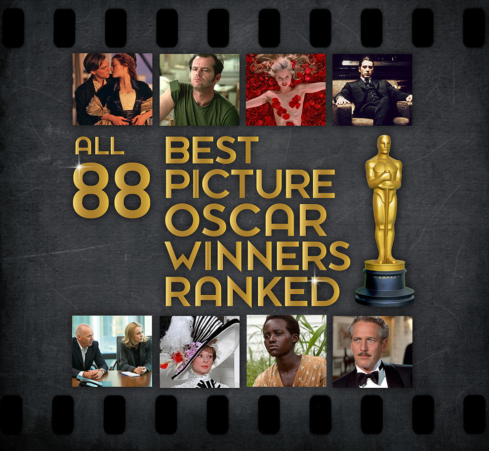 All 88 Best Picture Oscar Winners Ranked