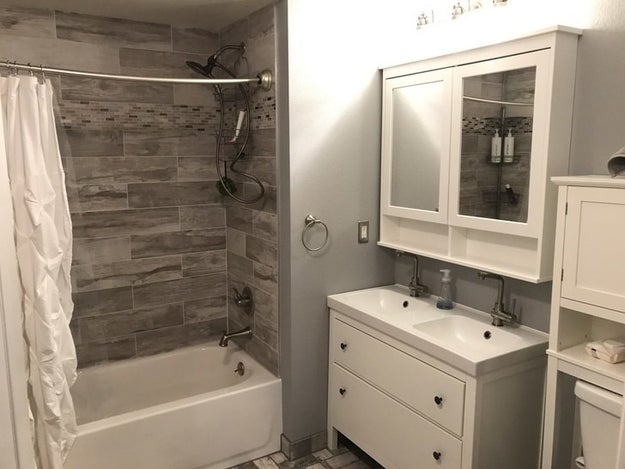 ...that morphed into a Pinterest-worthy bathroom with an extra sink.
