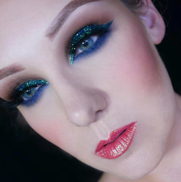 Mix a bunch of colors together for a makeup look that'll leave you ready for the Yule Ball.