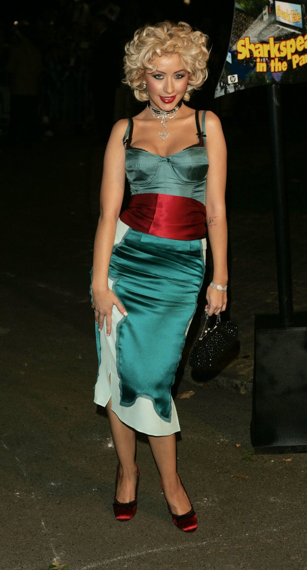 Christina Aguilera's sparkly brick: