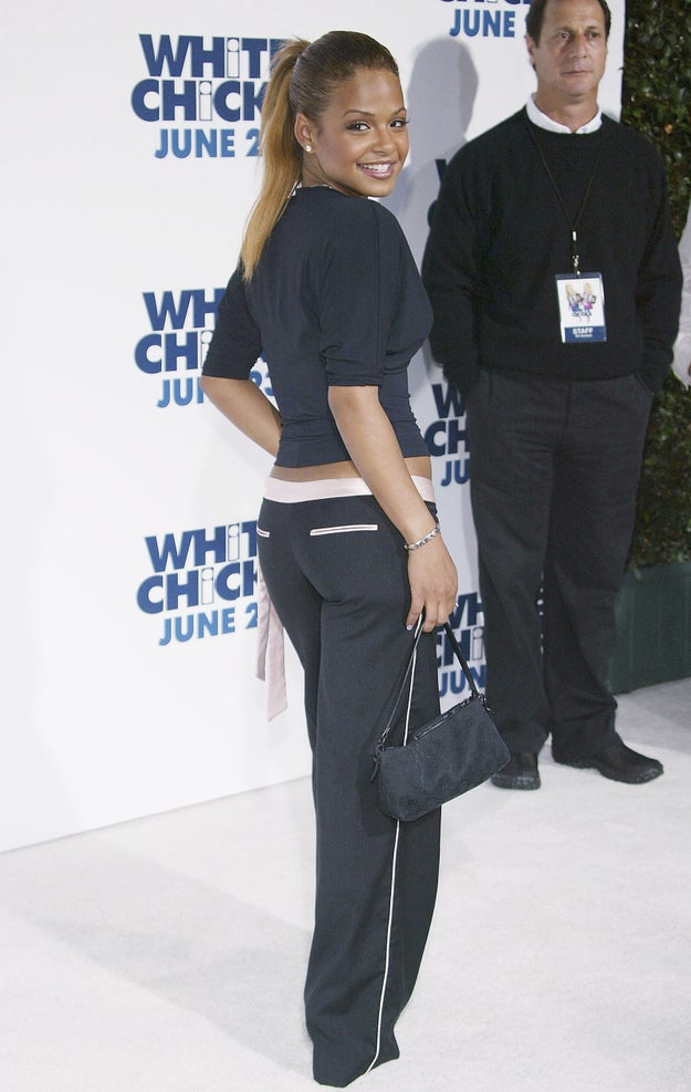 Christina Milian's leather rectangle: