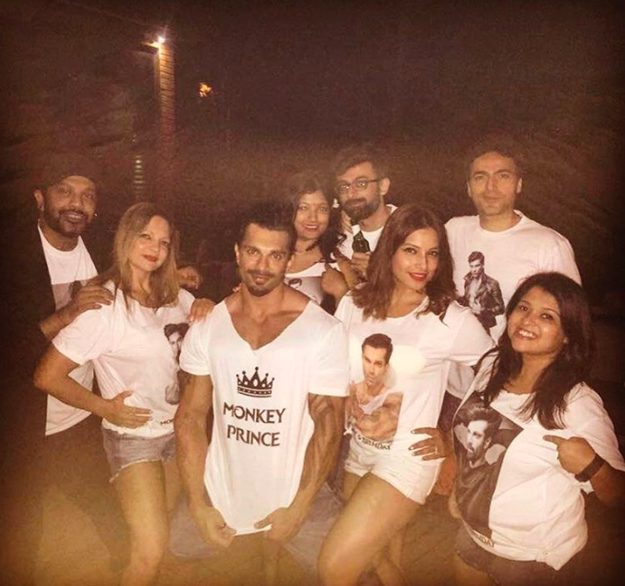 """She got him a personalised tee which read """"Monkey Prince"""" because Bipasha loves to address themselves as """"two monkeys in love""""."""