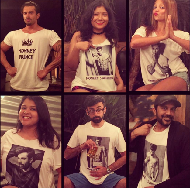 She also got personalised tees for all of the couple's friends.