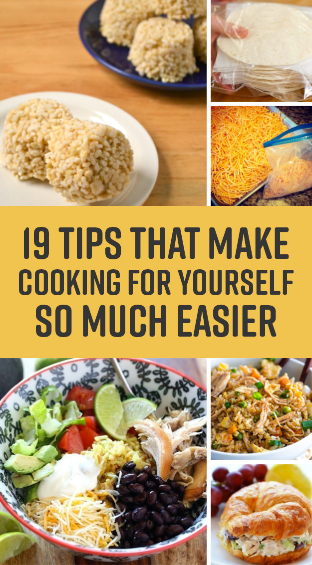19 Easy Single-Person Cooking Ideas That Won't Waste Food ...