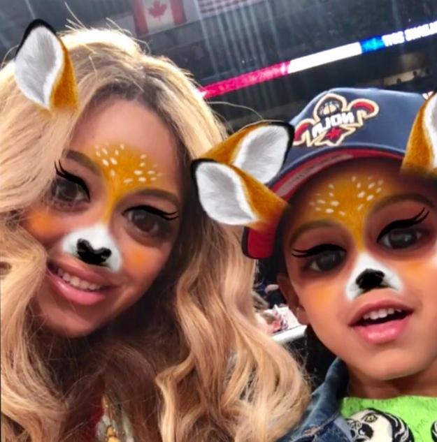 Beyoncé and Blue Ivy were deers.
