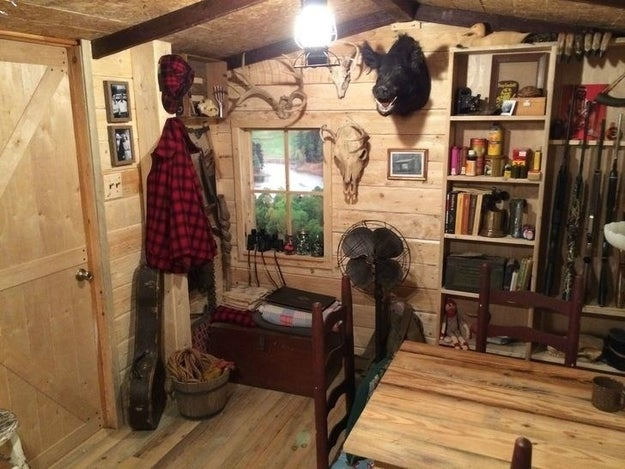 ...that was reimagined into a fully outfitted rustic cabin.