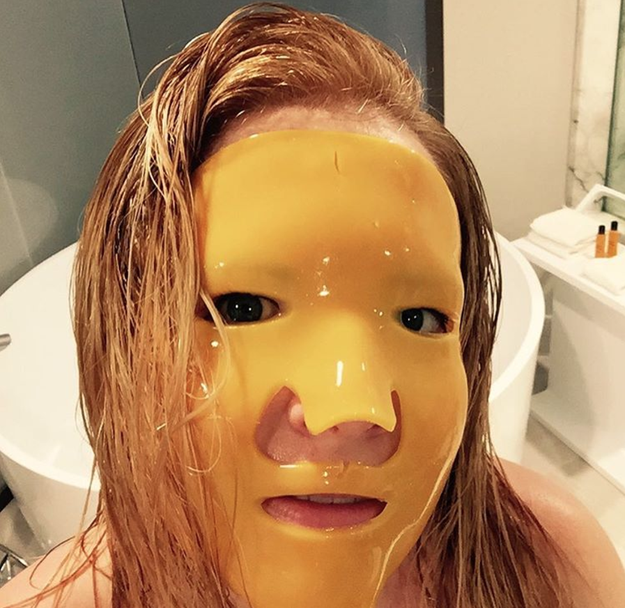 And Melissa Joan Heart wore the face mask of your nightmares.