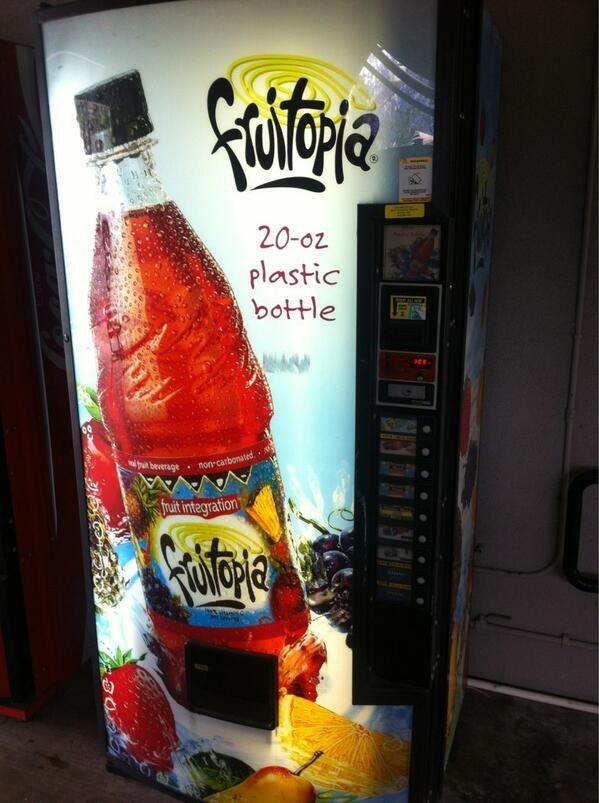 Having vending machines all around the school.
