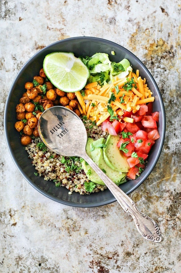 Taco Bowl with Crispy Chipotle Chickpeas