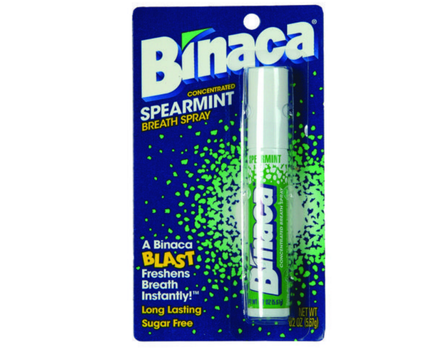 Burning the inside of your mouth with Binaca.