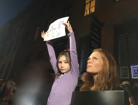 """That night, Rose realized just how much the announcement had frightened Sadie, she told BuzzFeed News.""""As I was tucking her into bed, she said to me with completely sincere worry, 'Mommy, what if Trump comes to my school and makes me use the boy's room? Do I get the principal?'""""Rose quickly comforted her daughter and said she should keep using the girl's room. But it was a tough conversation, she said."""