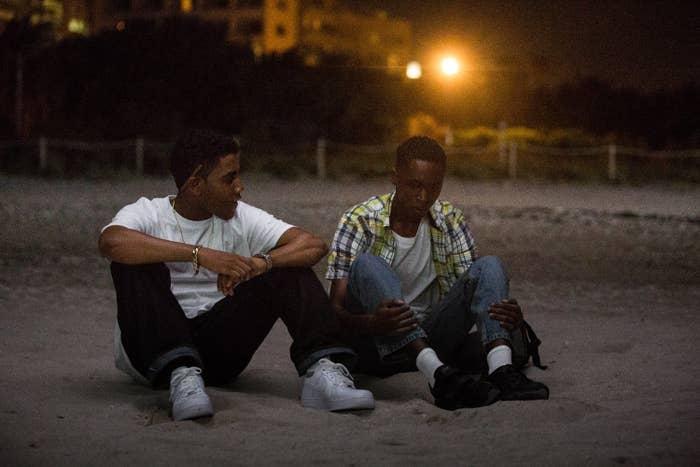 Jharrel Jerome and Ashton Sanders in Moonlight.
