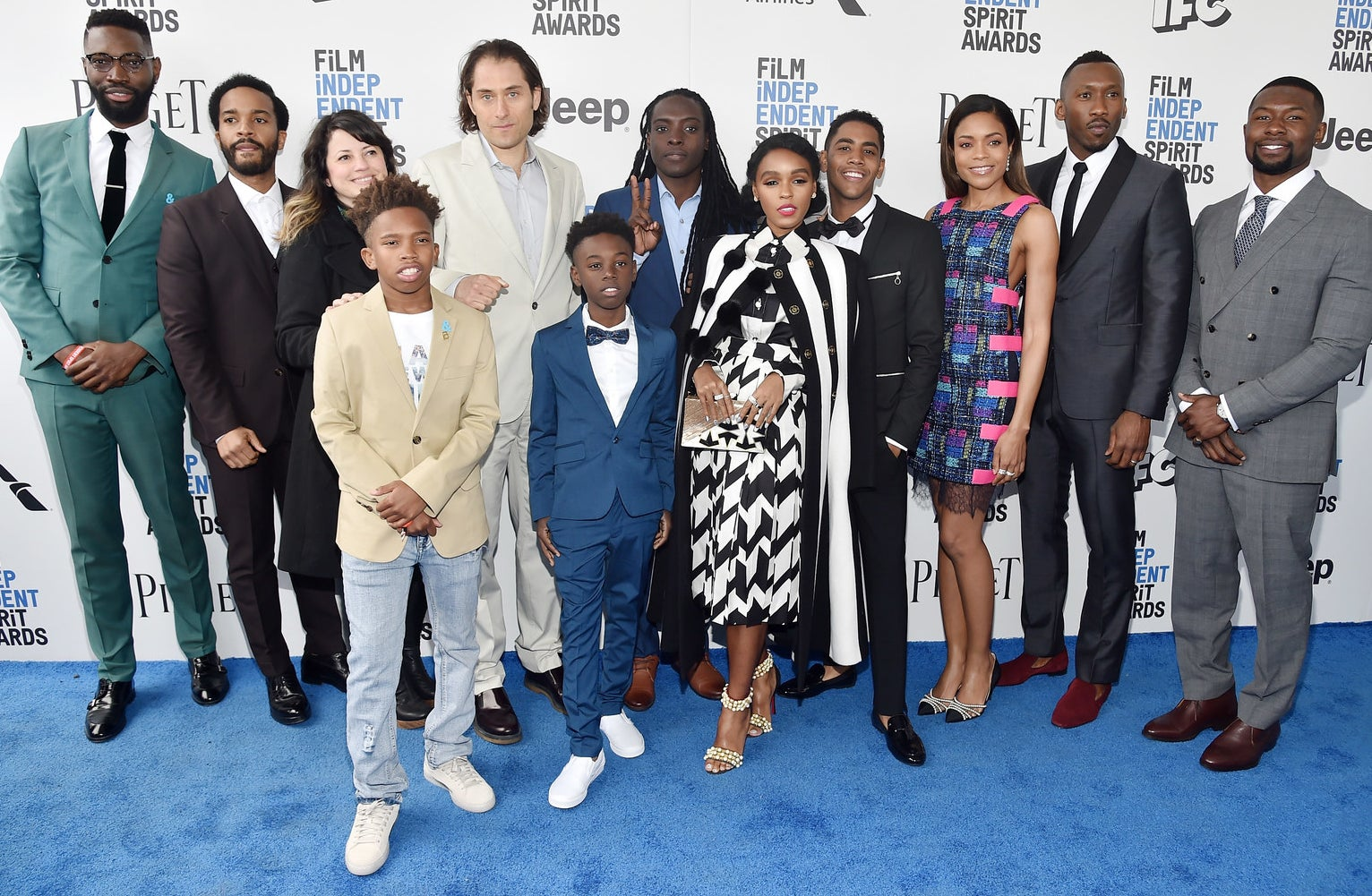 The Moonlight cast and crew at the Film Independent Spirit Awards