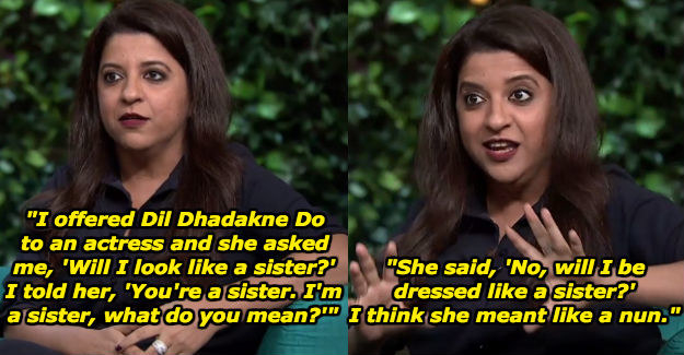 When she talked about an actress turning down Priyanka Chopra's role in Dil Dhadakne Do.