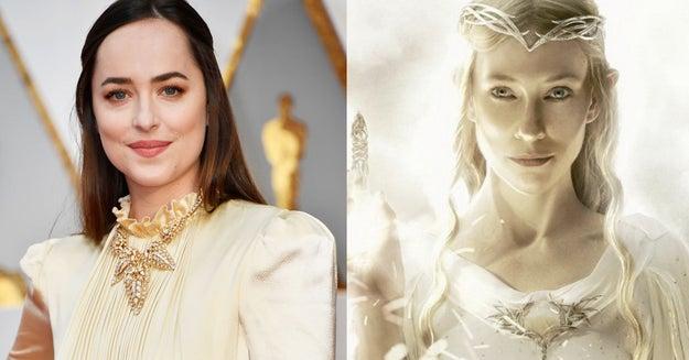 Dakota Johnson tomó una desviación de la Tierra Media para ir a los Oscar.