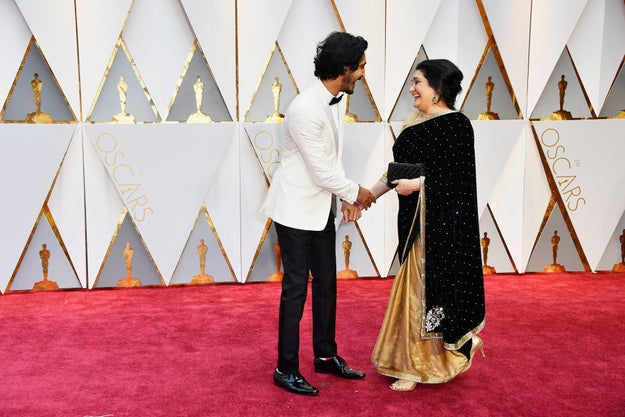 Moms were the stars of the Oscars before the show even started on Sunday.