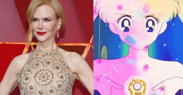 Nicole se atoró a la mitad de su transformación en Sailor Kidman.