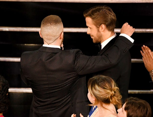 Yes, that's right. Two of the most successful Mousekateers, Ryan Gosling and Justin Timberlake, had a moment at the Academy Awards and honestly it deserves its own damn Oscar.