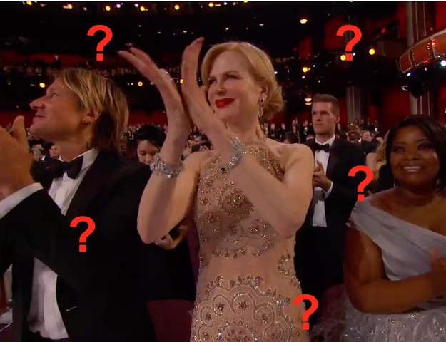 Tonight at the Oscars there was only one question on everyone's mind: does Nicole Kidman know how to clap or not?
