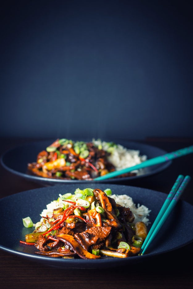 Stir-Fry Beef with Shiitake Mushrooms