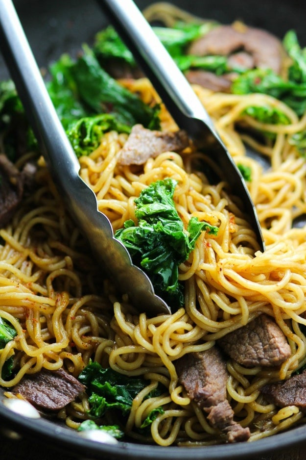 Beef and Kale Stir-Fry Noodles