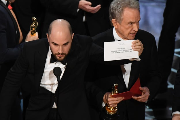 In a twist of events, the Best Picture award at the 2017 Oscars went to Moonlight after initially being presented to La La Land by accident.