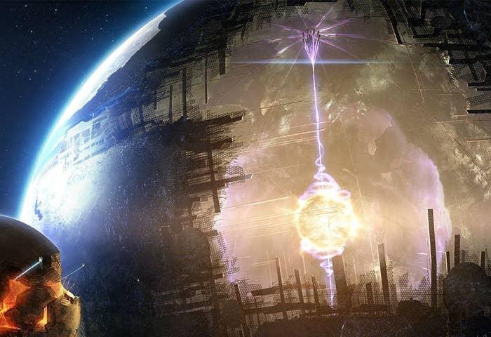 """Algo está bloqueando cerca de 20% da luz desta enigmática estrela na constelação de Cisne. O objeto em questão muito provavelmente não é um planeta, já que até mesmo um gigante composto de gás como Júpiter bloquearia apenas 1% de sua superfície. Alguns cientistas sugeriram que a anomalia pode ser uma hipotética megaestrutura alienígena chamada """"Esfera de Dyson"""", que circunda uma estrela e absorve sua produção de energia."""