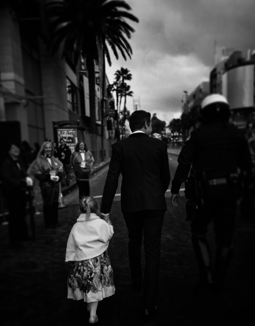 Ava got to have her moment with dad on the red carpet, too...