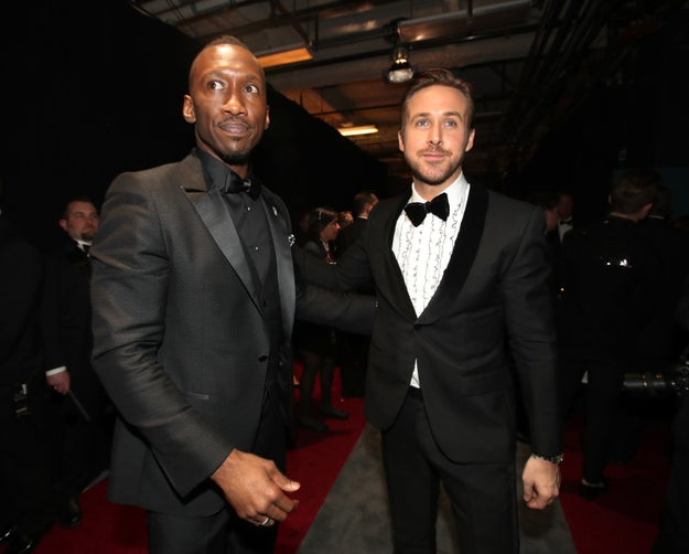 Mahershala Ali and Ryan Gosling looking dapper AF.