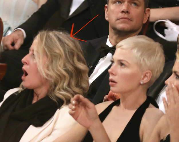 The woman next to Michelle Williams: