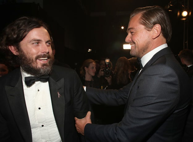 Casey Affleck and Leonardo DiCaprio, both Best Actor winners.